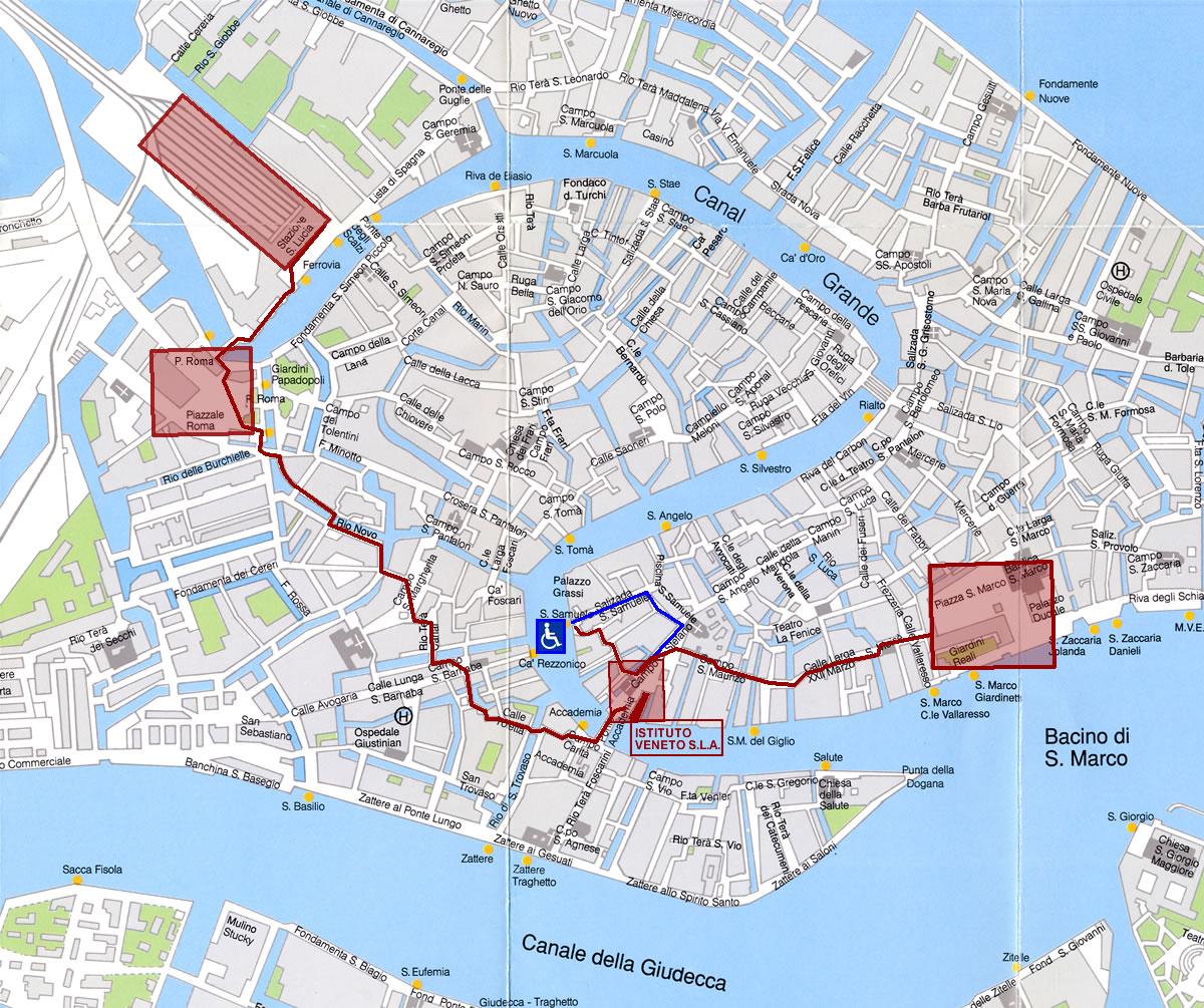 Cartina Venezia Centro Storico.Istituto Veneto Di Scienze Lettere Ed Arti Come Arrivare